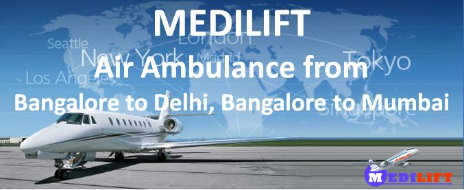 Air Ambulance from Bangalore to Delhi-Mumbai
